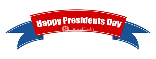 Presidents Day Ribbon Vector