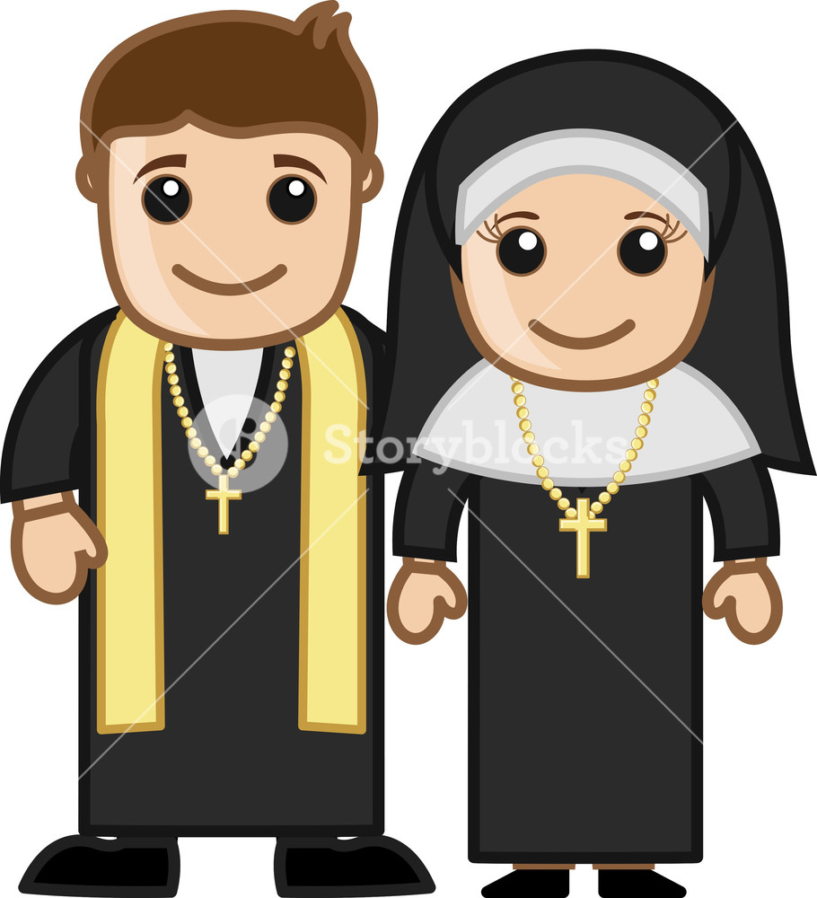 Illustration Of Nun Royalty Free Cliparts, Vectors, And Stock Illustration.  Image 15827530.