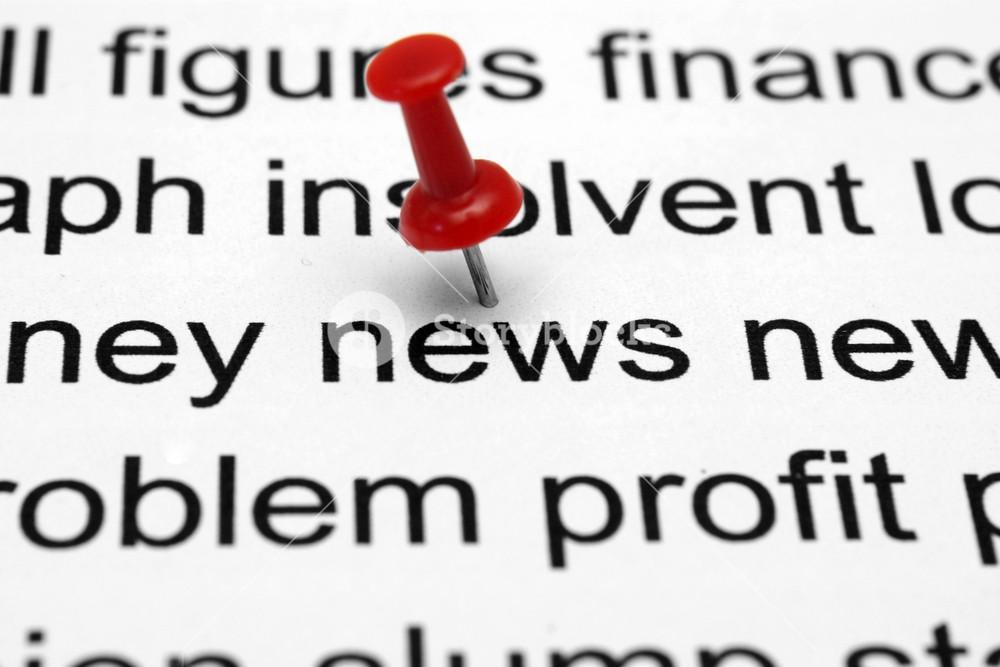 Push Pin On News