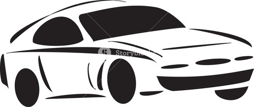 Racing Car With Side View.