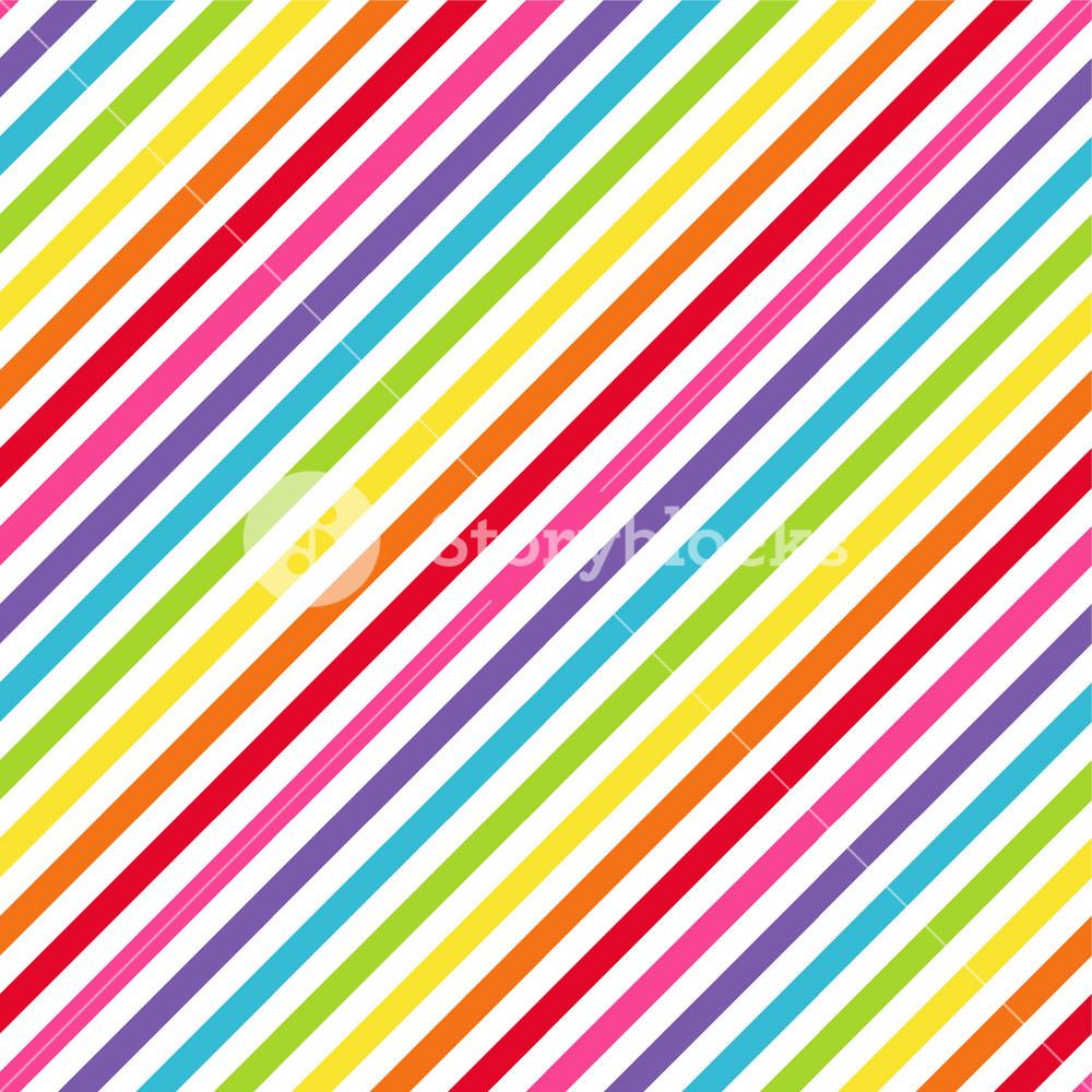 Rainbow Diagonal Stripes Pattern