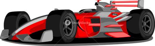 Red Formula One Car.