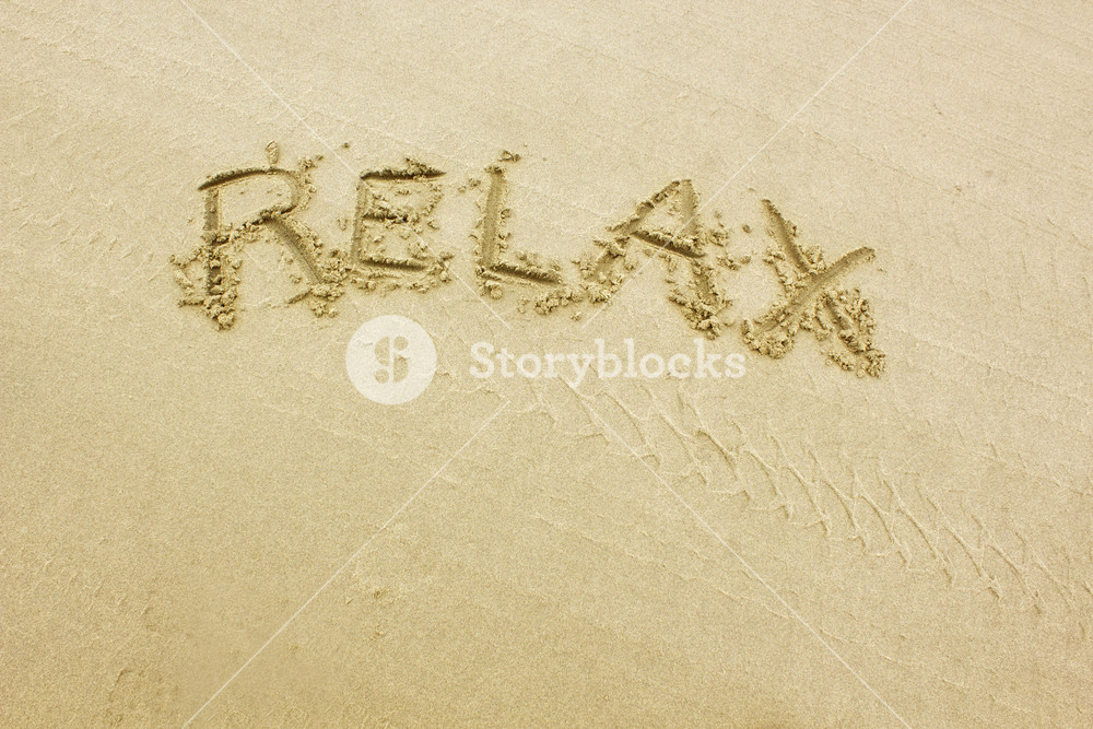 Relax Text San Writting