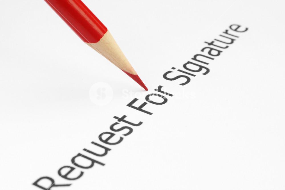Request For Signature