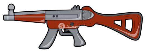 Retro Shooting Gun Design
