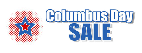 Retro Star Columbus Day Banner