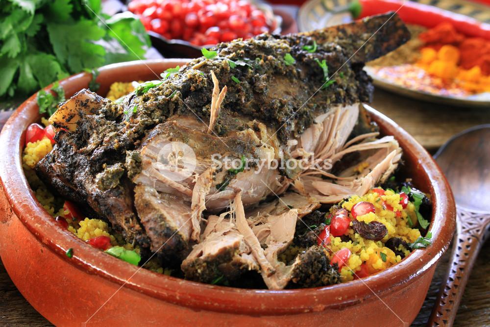 Roast  Moroccan Lamb Meal