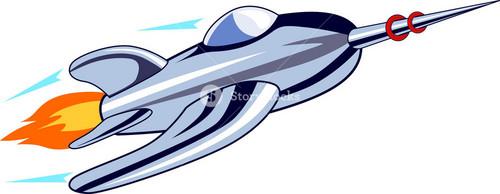 Rocket Ship Flying