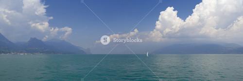 Sailboat on the calm ocean