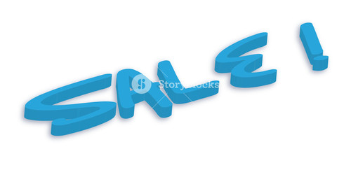 Sale Text In 3d Style Vector