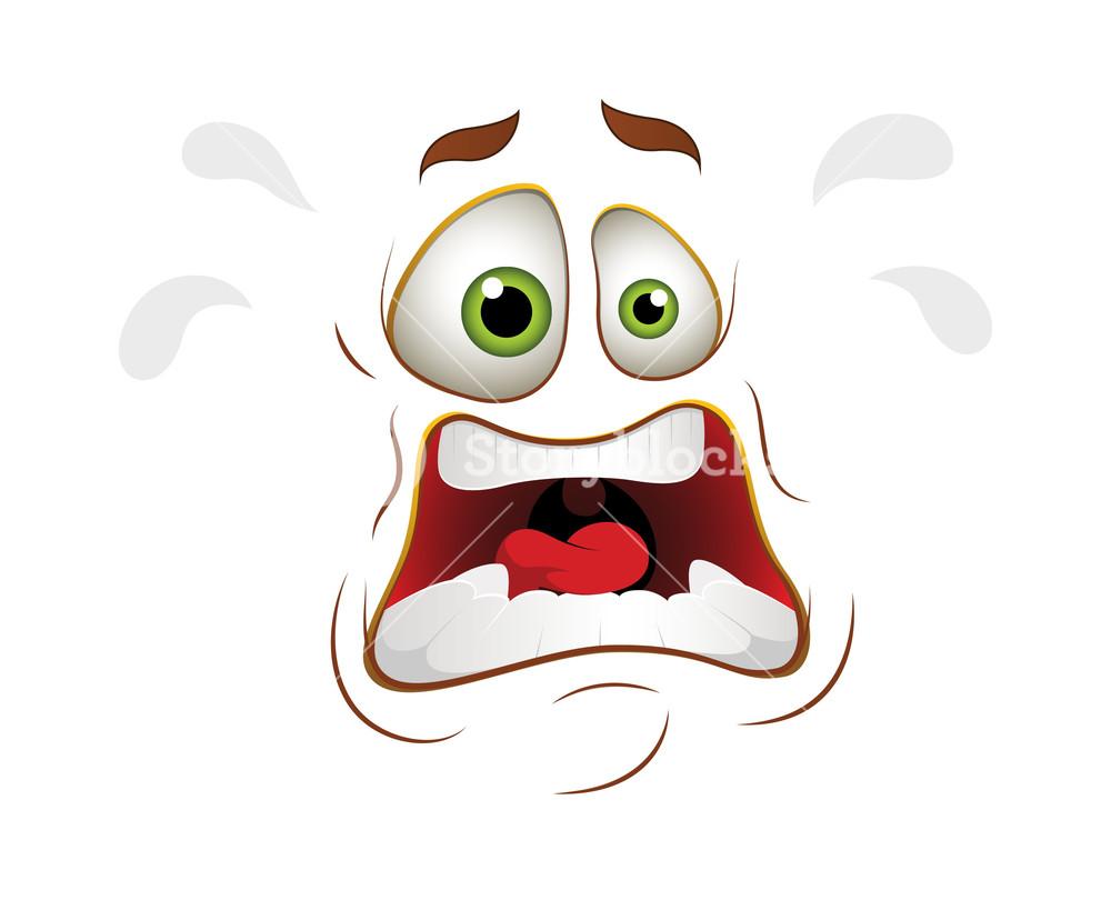 Scared Cartoon Face Expression Royalty Free Stock Image Storyblocks