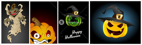 Scary Pumpkins Vectors