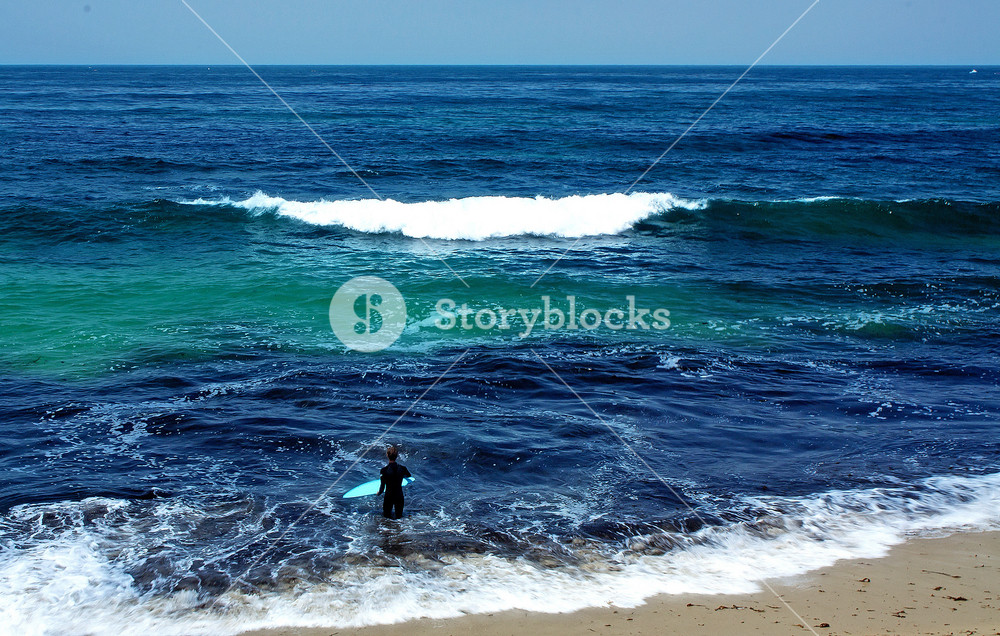 Sea Waves On Beach Background