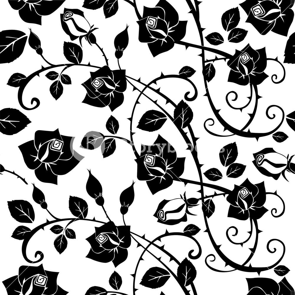 Seamless Floral Rose Pattern