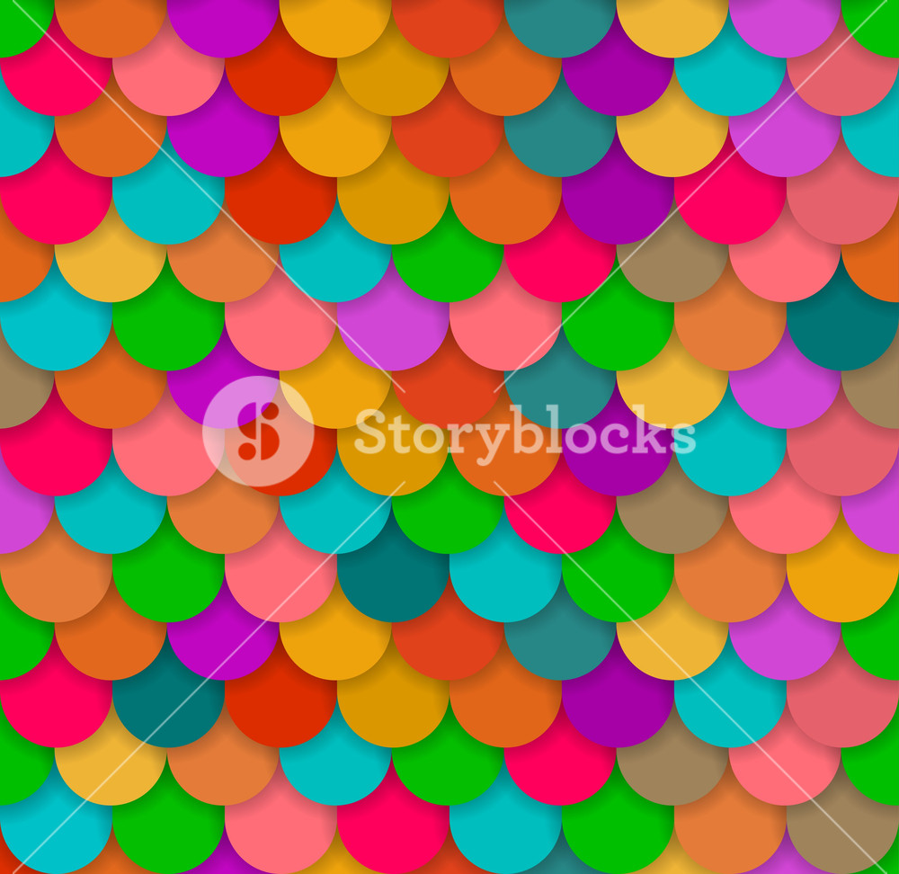 Seamless Glossy Rainbow Scale Background. Vector.