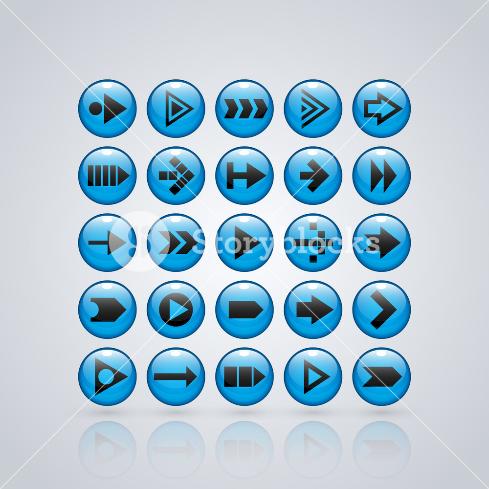 Set Of 25 Glossy Buttons