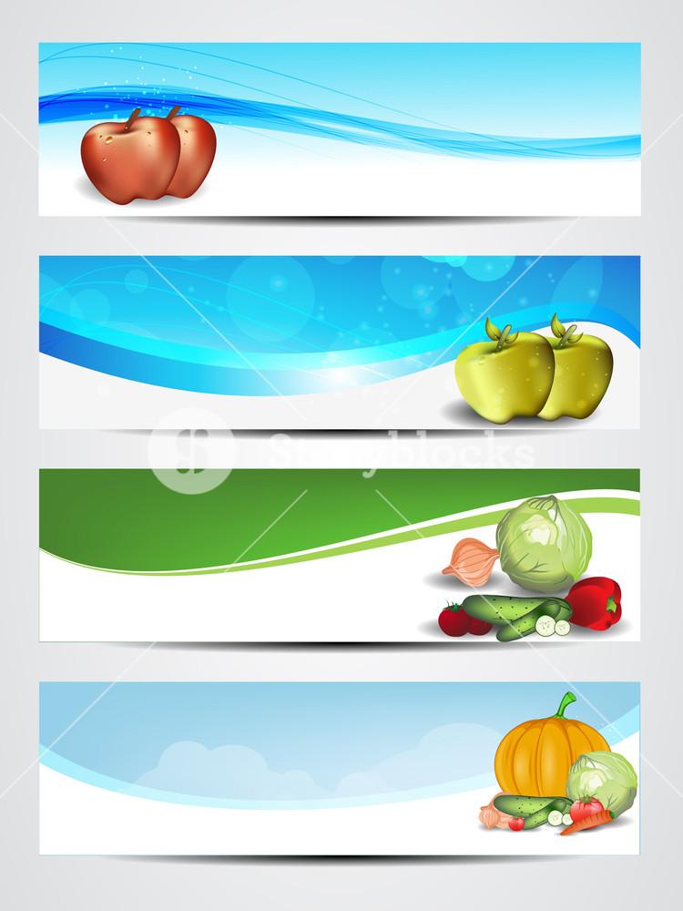 Set Of Medical Banners Or Website Headers.