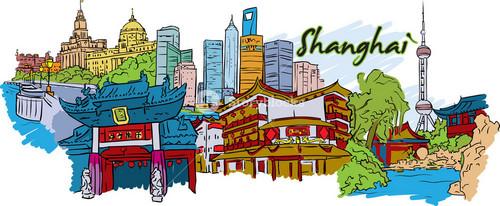 Shanghai Vector Doodle