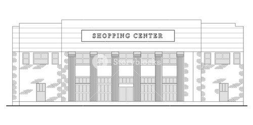 Shopping Center Building Front