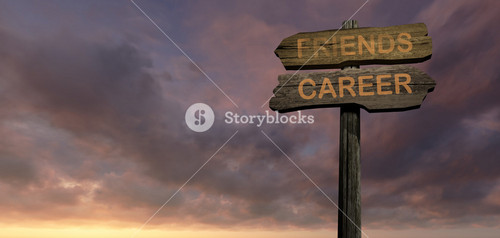 Sign Direction Friends   Career