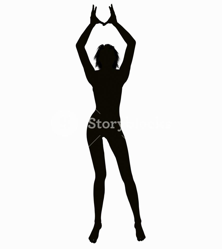 Silhouette Of A Posing Woman