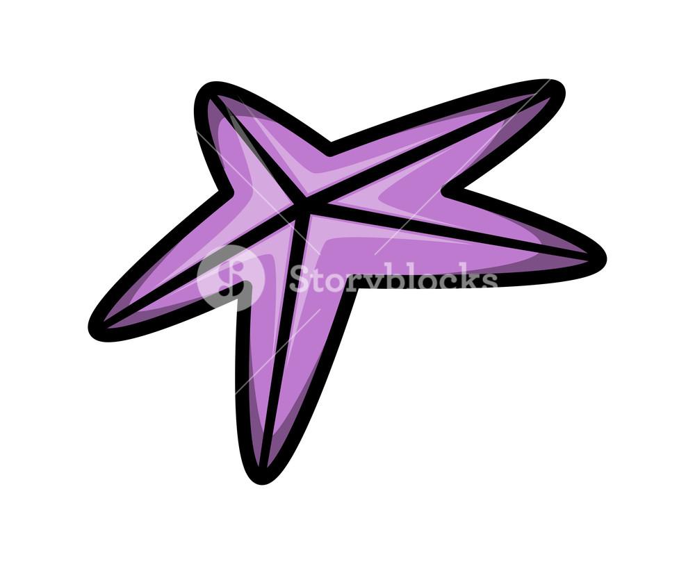 Simple Cartoon Star Fish