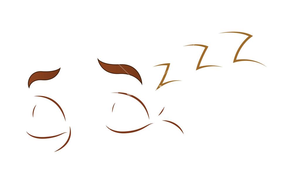 Sleeping Cartoon Eyes Royalty Free Stock Image Storyblocks