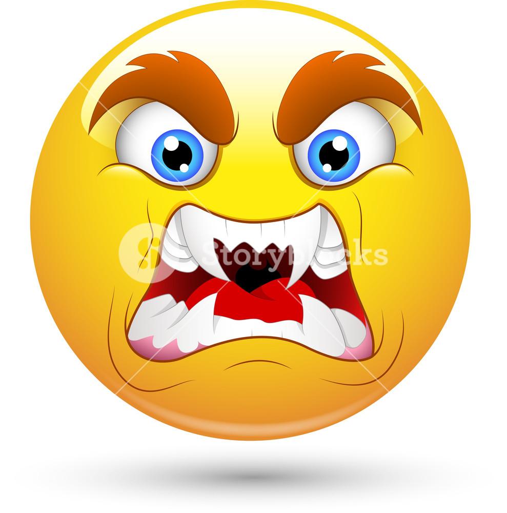 Smiley Vector Illustration - Horrifying Face