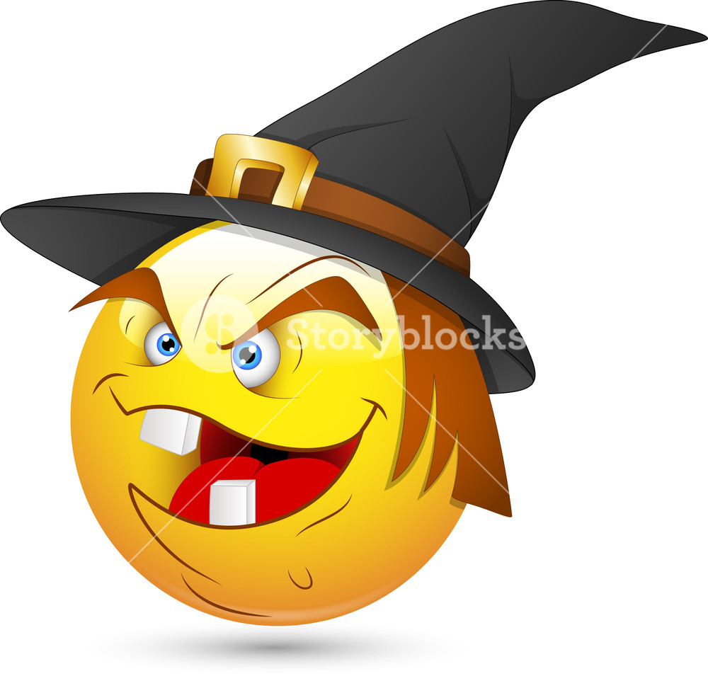 Smiley Vector Illustration - Witch Face