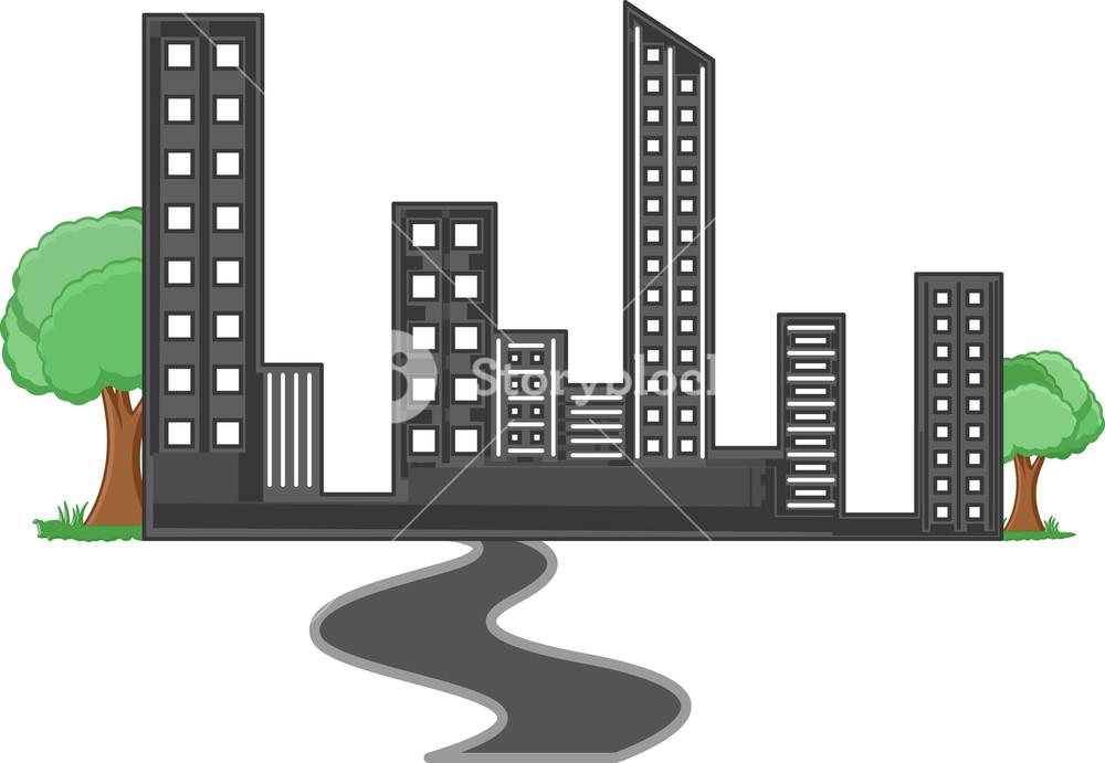 Society - Real Estate Concept - Vector Character Cartoon Illustration