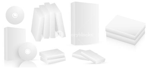 Software Boxes Vectors