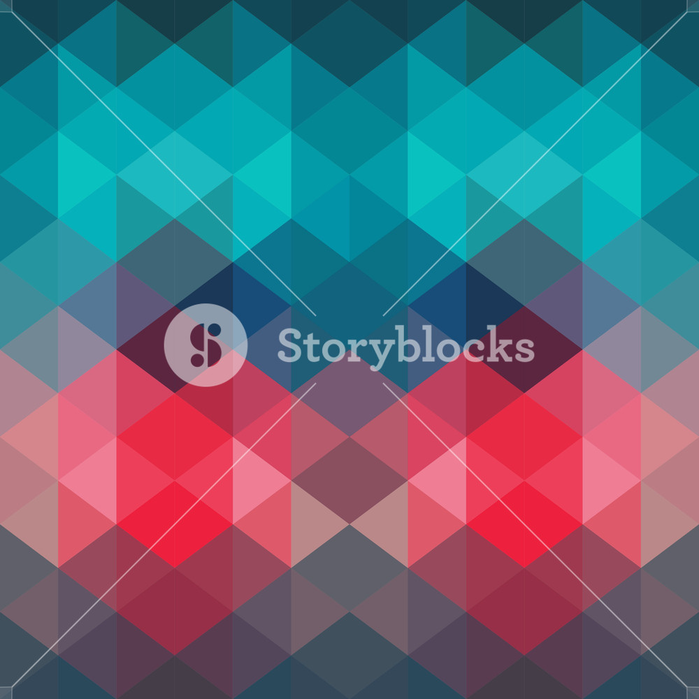 Spectrum Geometric Background Made Of Triangles. Retro Hipster Color Spectrum Grunge Background. Square Composition With Geometric Color Flow Effect. Color Wheel