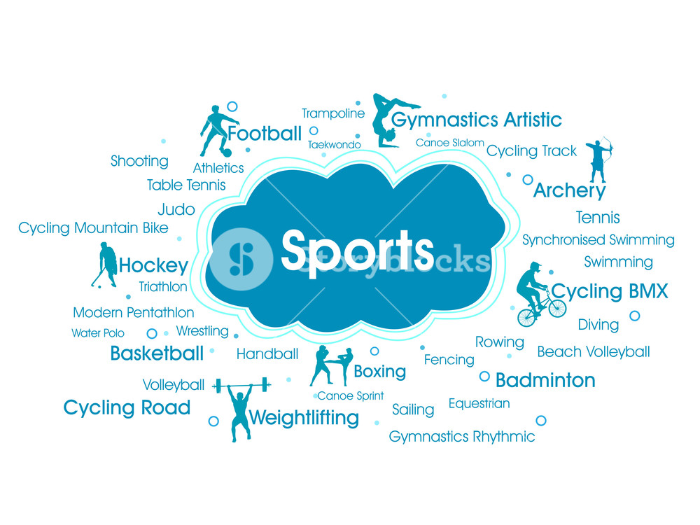 Sports Info Text Graphic And Arrangement Concept On White Background.