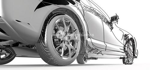 Stainless Model Car