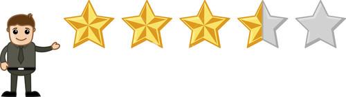 Star Rating - Cartoon Vector