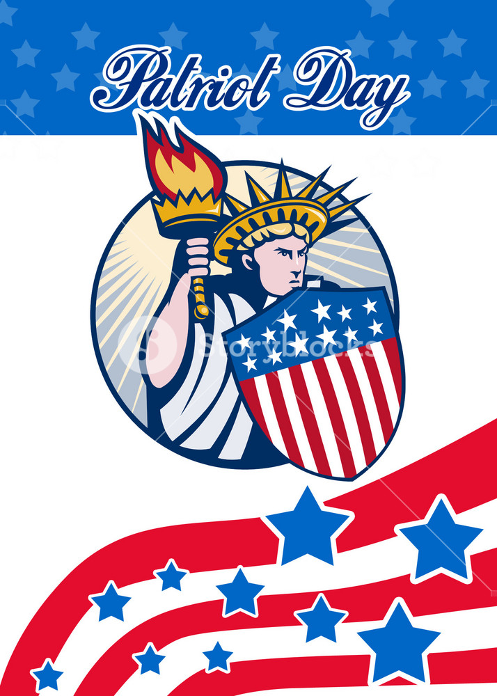 Statue Of Liberty Patriots Day Poster