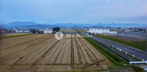 agriculture area in countryside of hokkaido japan