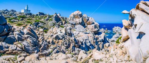 Amazing granite rock formations in Capo Testa in north Sardinia, Italy