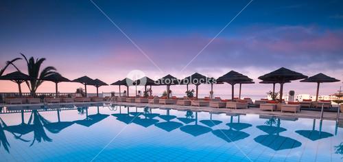 Beautiful pool in the Greek Islands
