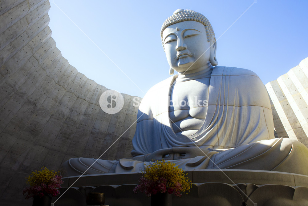 hokkaido japan - october8,2018 : japanese buddhist statue in hill of buddha sapporo hokkaido one of popular traveling destination