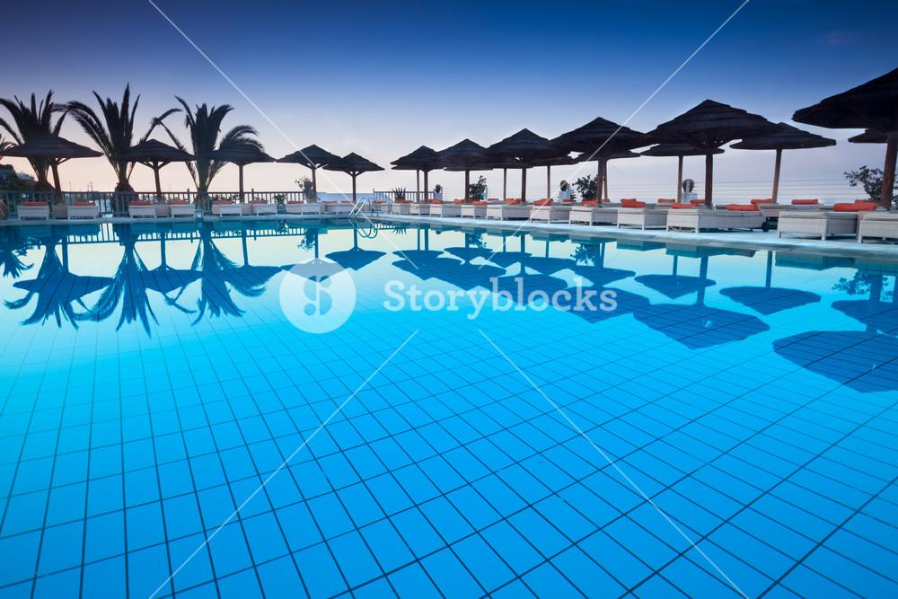 Luxury pool at a tourist resort
