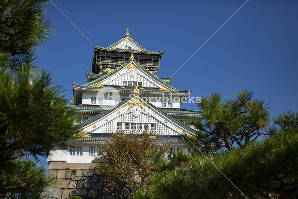 other scene of osaka castle one of most popular traveling destination in osaka japan