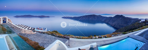 Stunning view of Santorini from the cliffs