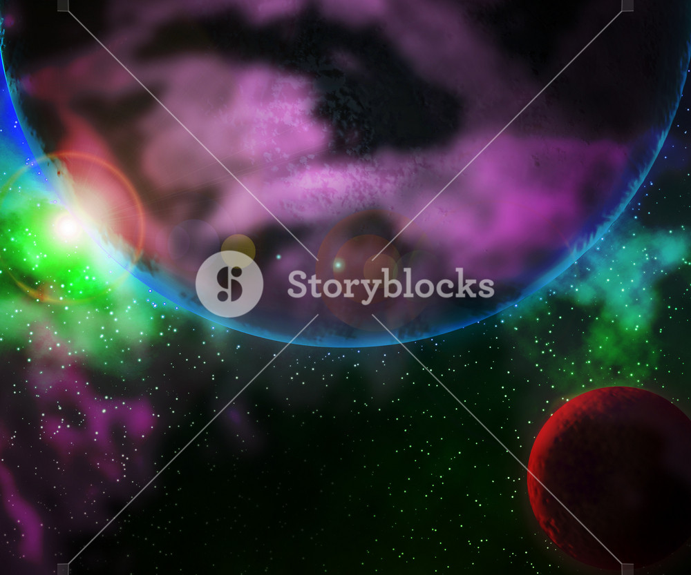 Strange Planet Outer Space Backdrop