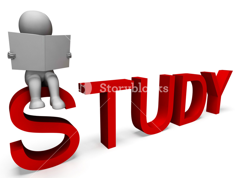 Study Word Showing Education Or Learning