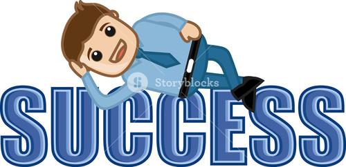 Success - Leisure Life - Business Cartoons Vectors