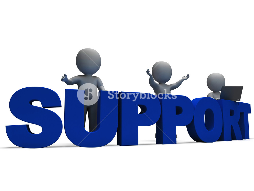 Support Word Showing Assistance And Help