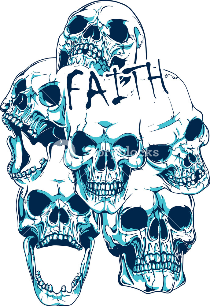 T-shirt Design With Skulls