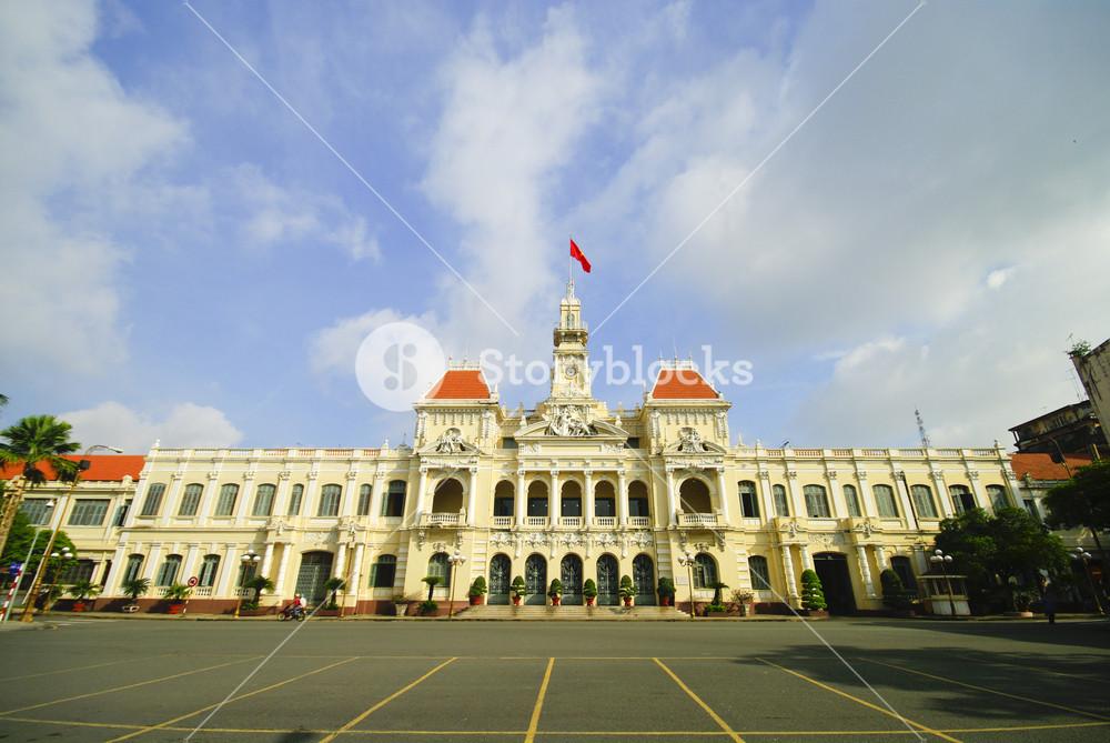 The City Hall of Ho Chi Minh City in Saigon, Vietnam