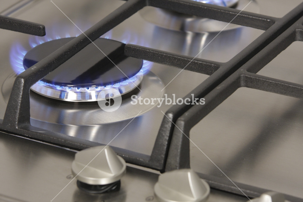 The Flame Of Gas Burner